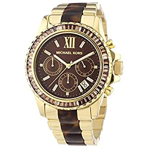 Michael Kors Everest Tortoise Acetate and Gold-Tone Stainless Steel Women's watch #MK5873