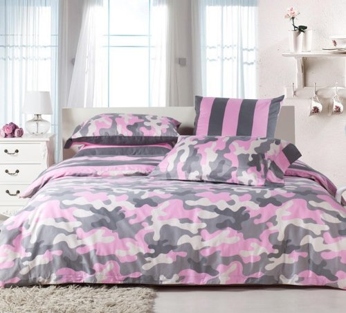 Pink Camouflage Bedding 3500 front