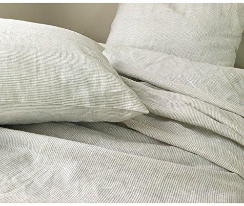 Details for Natural Linen Ticking Stripe Duvet Cover, Ticking Striped Bedding, Custom Bedding, Linen Bedding, Queen Duvet Cover, King Duvet Cover, Twin Duvet Cover, Full Duvet Cover, FREE SHIPPING