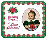 Holiday Hugs for Great Grandma - Photo Magnet Frame