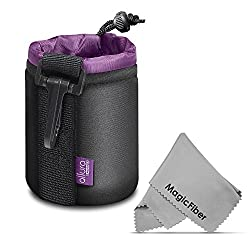 Altura Photo Small Neoprene Pouch Bag for DSLR Camera Lens (Canon, Nikon, Pentax, Sony, Olympus, Panasonic) + MagicFiber Microfiber Lens Cleaning Cloth