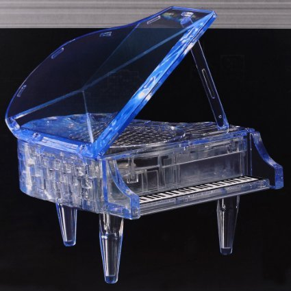 Dfunlife DIY 3D Assembly Puzzle Crystal Piano Intelligence Toy