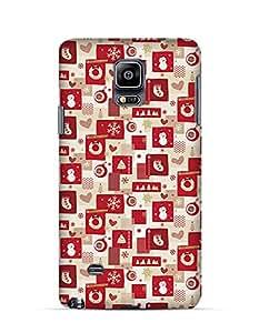 Christmas pattern grunge Samsung Note 4 case