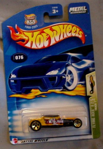Hot Wheels 2003 Flying Aces II Track T 2/5 YELLOW #076 #76 - 1