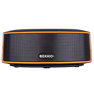 Bluetooth Speakers, Bekhic 3D-GS HIFI Portable Wireless Bluetooth Speaker (Black)
