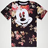 neff Men's Mickey Face X Disney Colab Short Sleeve T-Shirt, Floral, Medium