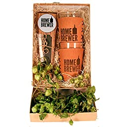 Home Brewer Gift Box with Tap Handle and Pint Glass Sleeves / Gifts for Dad / Gifts for Homebrewer