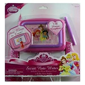 Disney Princess Slider Screen art board - secrete note writer dry-erase drawing board