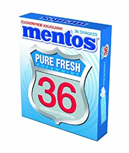 "Mentos Chewing Gum Route 36 ""Pure Fresh"", 2er Pack (2 x 42 g)"