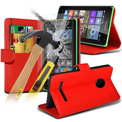 fone-case-rosso-microsoft-lumia-435-custodia-caso-case-cover-brand-new-luxury-bookstyle-pelle-pu-wal