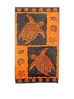 Natural History Gifts Toalla Playa Lux Mod 66 (Naranja / Gris)