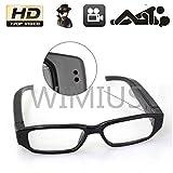 720P HD高画質 メガネ型ビデオ&カメラ microSD32GB対応 高解像度1280×720 眼鏡単独録音メガネ 小型カメラ スパイ 防犯 録画