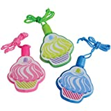Lot Of 12 Assorted Color Cupcake Theme Mini Bubble Necklaces