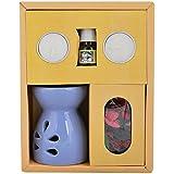 CBS Ceramic Diffuser Fragrance Gift Set (21.6 Cm X 18 Cm X 7.8 Cm, Blue)