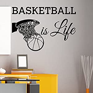 Basketball is life wall decal quote basketball for Sports decals for kids rooms