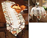 Autumn Harvest Diecut Decorative Table Linens Runner