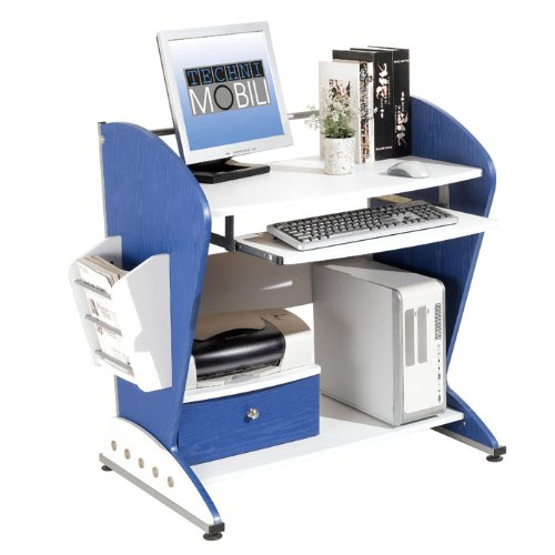 Looking for techni mobili ergonomic kids teens mdf computer desk blue and white automotive - Kid and teen desks ...