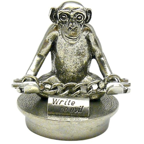 Jac Zagoory Mini Write No Evil Pen Holder -Chained Down