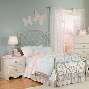 Standard Furniture Spring Rose Metal Kids Bed In White Full Childrens Furniture