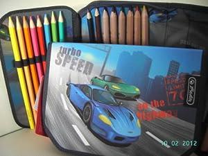 Herlitz Pencil Case Filled with 26 Pieces:pencil Box, Pocket,etui, Pencil Bag, Multi Case, Pencil Pouch for School
