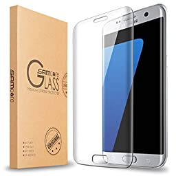 Galaxy S7 edge Screen Protector [Full Coverage], Samcore® [Tempered Glass] 0.3mm [Anti-Bubble] Curved Edge to Edge Screen Protector for Samsung Galaxy S7 edge [Lifetime Warranty]