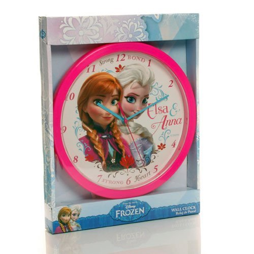 Disney Frozen Mädchen Kinder Rosa Wandbehang Wanduhr Schlafzimmer Elsa & Anna Geschenk bestellen