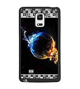 PrintDhaba Earth on Fire D-4133 Back Case Cover for SAMSUNG GALAXY NOTE EDGE (Multi-Coloured)