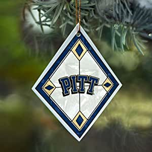 Pittsburgh Panthers Stained Glass Ornament