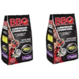 LUMPWOOD CHARCOAL 6KG IN TWO 3KG BAGS . BARBECUE BBQ CHIMINEA FIREPIT FUEL