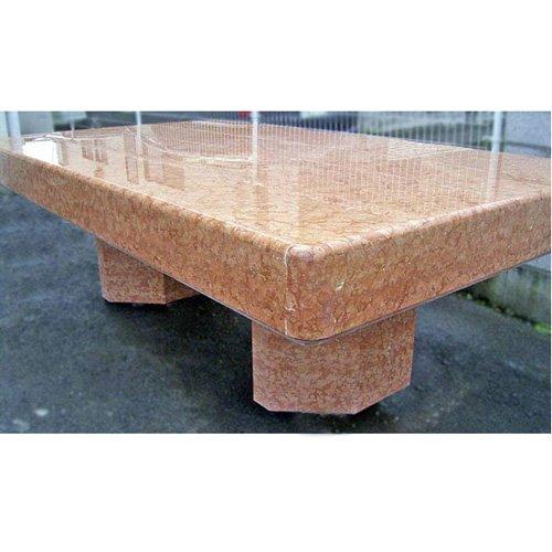 スペイン産 天然 大理石 テーブル(アンモナイトの化石入り)