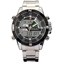 SHARK Mens Digital Analog Lcd Chronograph Date Day Army Sport Quartz Watch + Box from SHARK