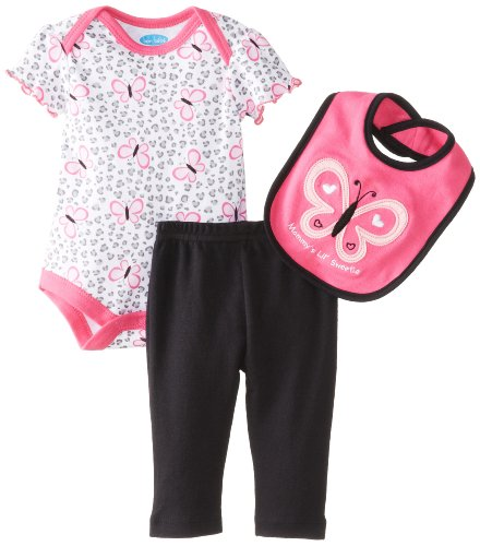 Bon Bebe Baby-Girls Newborn Mommy'S Lil Sweetie Bib Bodysuit And Legging Set, Multi, 0-3 Months front-1073875