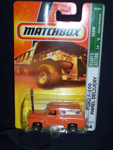 Matchbox 2008 # 64 Ford F-100 Panel Delivery Orange Farm Series 1 of 6 1/6