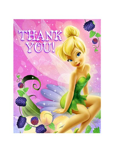 Tink Sweet Treats Thank You Notes