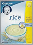 Gerber Single Grain Rice Cereal for Baby 8oz