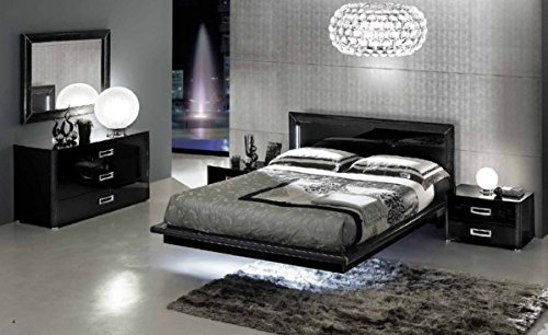1PerfectChoice LA STAR COMPOSITION 01 MODERN ITALIAN 5 PCS CALIFORNIA KING BED SET (Italian Bed Furniture compare prices)