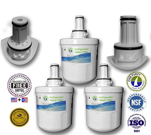 3 Pack - Onepurify Water Filter To Replace Samsung, Whirlpool, After 2010 Models (3-Notch), Aqua Pure, Aqua Pure Plus, Da29-00003, Da29-00003A, Da29-00003A-B, Da29-00003B, Da29-0003B, Da2900003A, Da2900003B, Da61-00159, Da61-00159A, Da61-00159A-B, Da61-15 front-98704