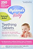 Hyland's Baby Teething Tablets, Natural Baby Teething Pain and Irritability Relief, 250 Count