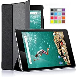 IVSO Google Nexus 9 8.9-inch Ultra-Thin Slim Smart Cover Case with Auto Sleep/Wake Function - Will only fit HTC Nexus 9 & Google Nexus 9 8.9-inch (2014 Release) Tablet (Black)