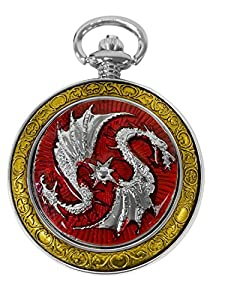 Amazon.com: Celtic Pocket Watch Red Dragon Motif Roman Numerals with