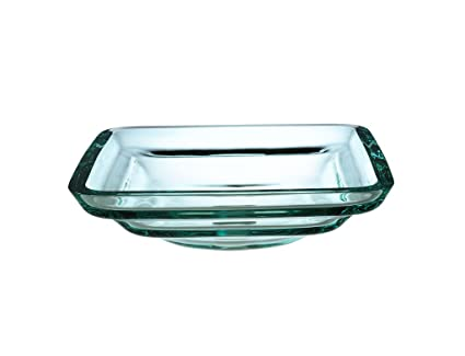 Xylem GV101TSQ Glass Tiered Round Vessel, Transparent