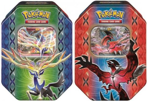 Both Tins - Pokemon Xy Tcg Card Game 2014 Legend Of Kalos Spring Ex Booster Packs Tins - Xerneas & Yveltal