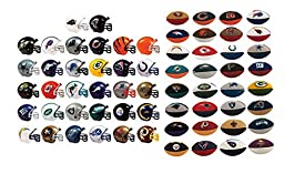 MINI NFL FOOTBALL HELMETS AND ERASERS COMPLETE LOT ALL 32 TEAMS