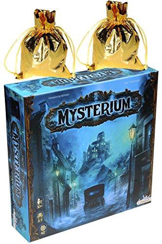 Mysterium Board Game _ Bonus 2 Gold Metallic Cloth Drawstring Storage Pouches _ Bundle (Citadel Board Game compare prices)