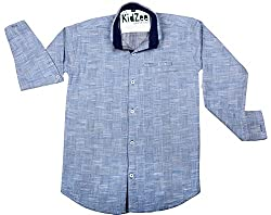 CAY 100% Cotton Blue Color Designer Shirt