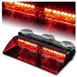 Jackey AwesomeCar 16-led 18 Flashing Mode Emergency Vehicle Dash Warning Strobe Flash Light (Red)