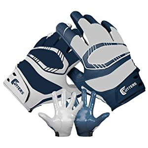 Cutters Gloves REV Pro Yin Yang Receiver Glove (Pair), Navy/White, Medium