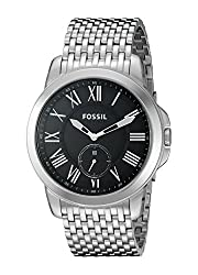 Fossil End-of-Season Grant Analog Black Dial Mens Watch - FS4944