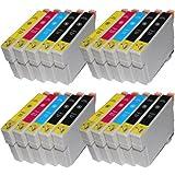 20 kompatible Tintenpatronen für Epson T1811 T1812 T1813 T1814 XL-Inhalt - 8x Schwarz je 18ml, 4x je C,M,Y je 18ml -- Druckerpatronen für Epson Expression Home XP30 XP102 XP202 XP205 XP302 XP305 XP402 XP405