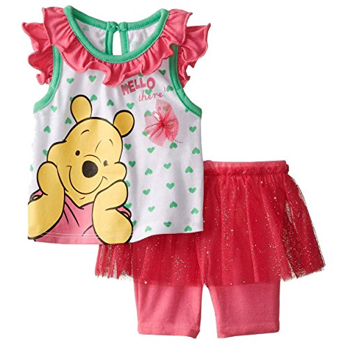 Winnie the Pooh Baby Girls Tank Top and TuTu Shorts Set